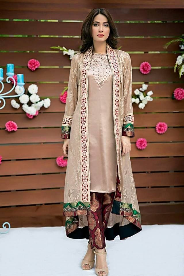 Coat style desi style pinterest pakistani dress Pakistani fashion designers