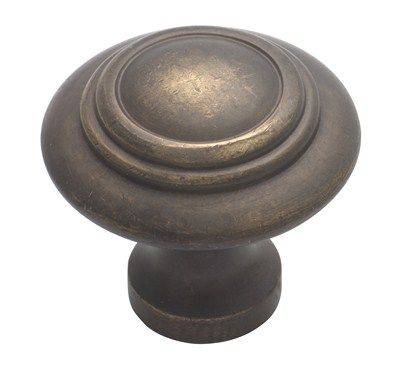 Cast Brass Kitchen Cupboard Knobs - Domed Antique Brass Knob - Cast Brass Kitchen Cupboard Knobs - Domed Antique Brass Knob New