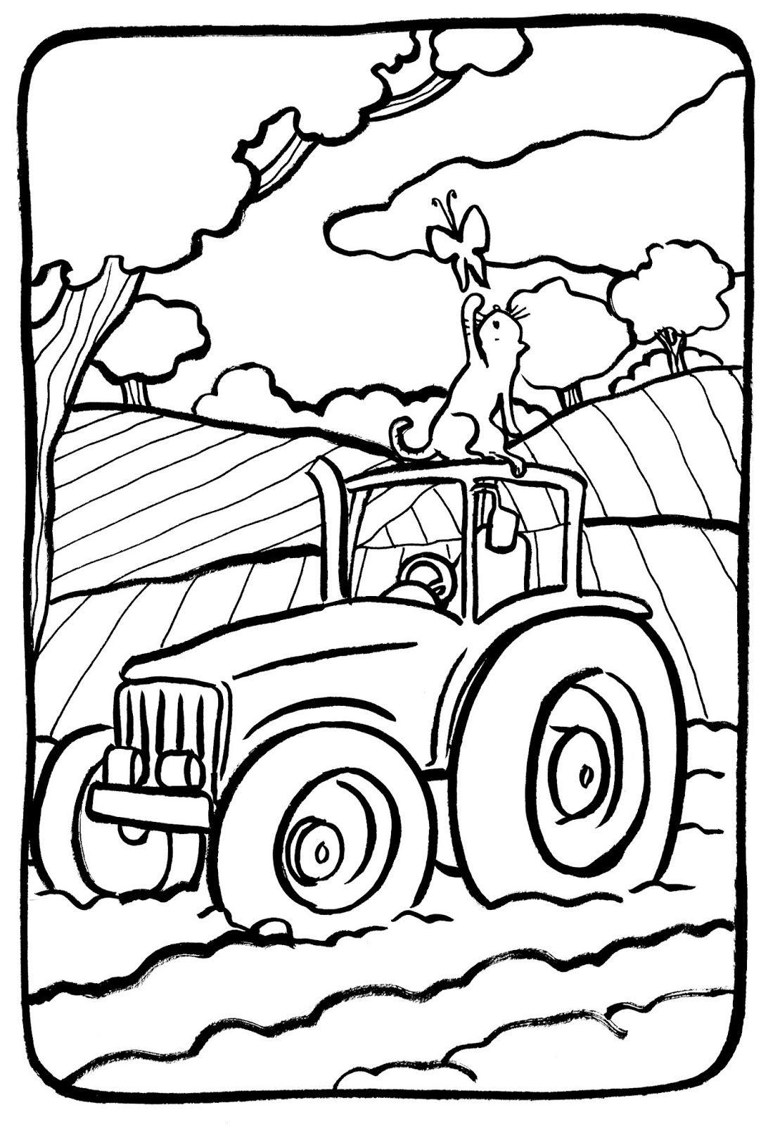 Coloriage A Imprimer De Tracteur Avec Remorque