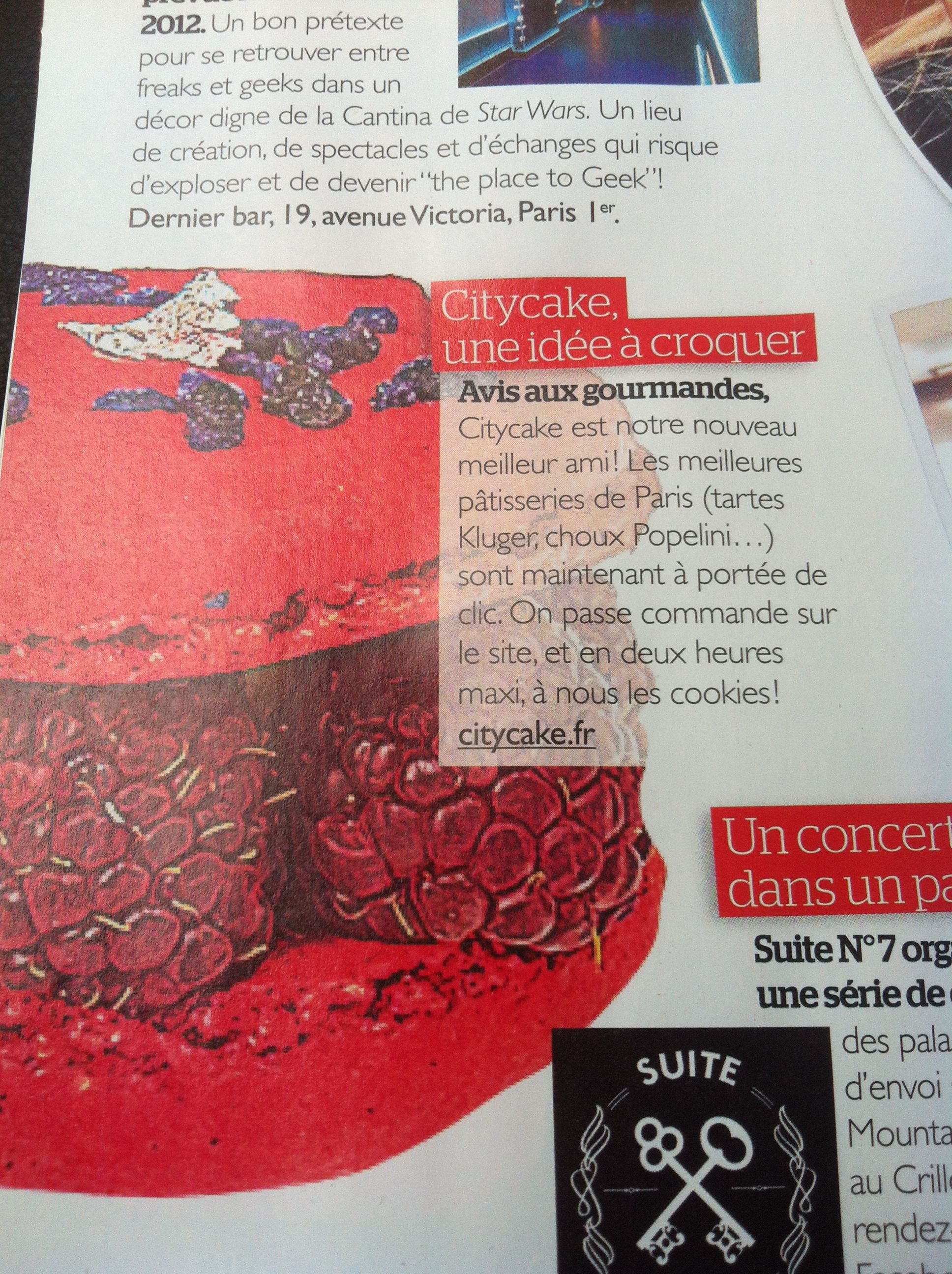 Http://www.citycake.fr on parle de nous ! Le site de livraison des meilleurs pâtisseries de Paris !