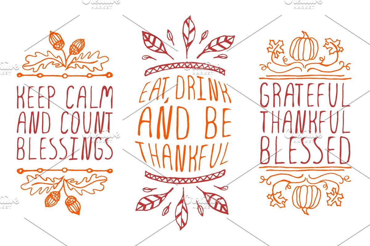 Handdrawn Thanksgiving elements in 2020 How to draw