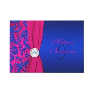 Royal Blue And Fuschia Wedding Weddinginvitations4u Net Fuschia
