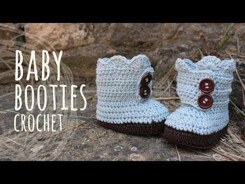 Tutorial Baby Crochet Booties Youtube Flimpjes Pinterest Haken