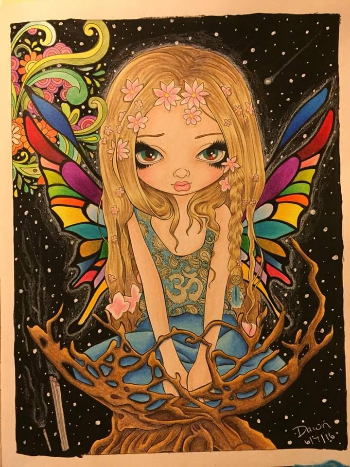 Jasmine Becket Griffith coloring