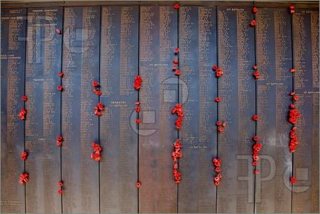 Fallen Soldier Memorial Art | Pics of Names of fallen soldiers in the Wall of Remembrance, at the ...