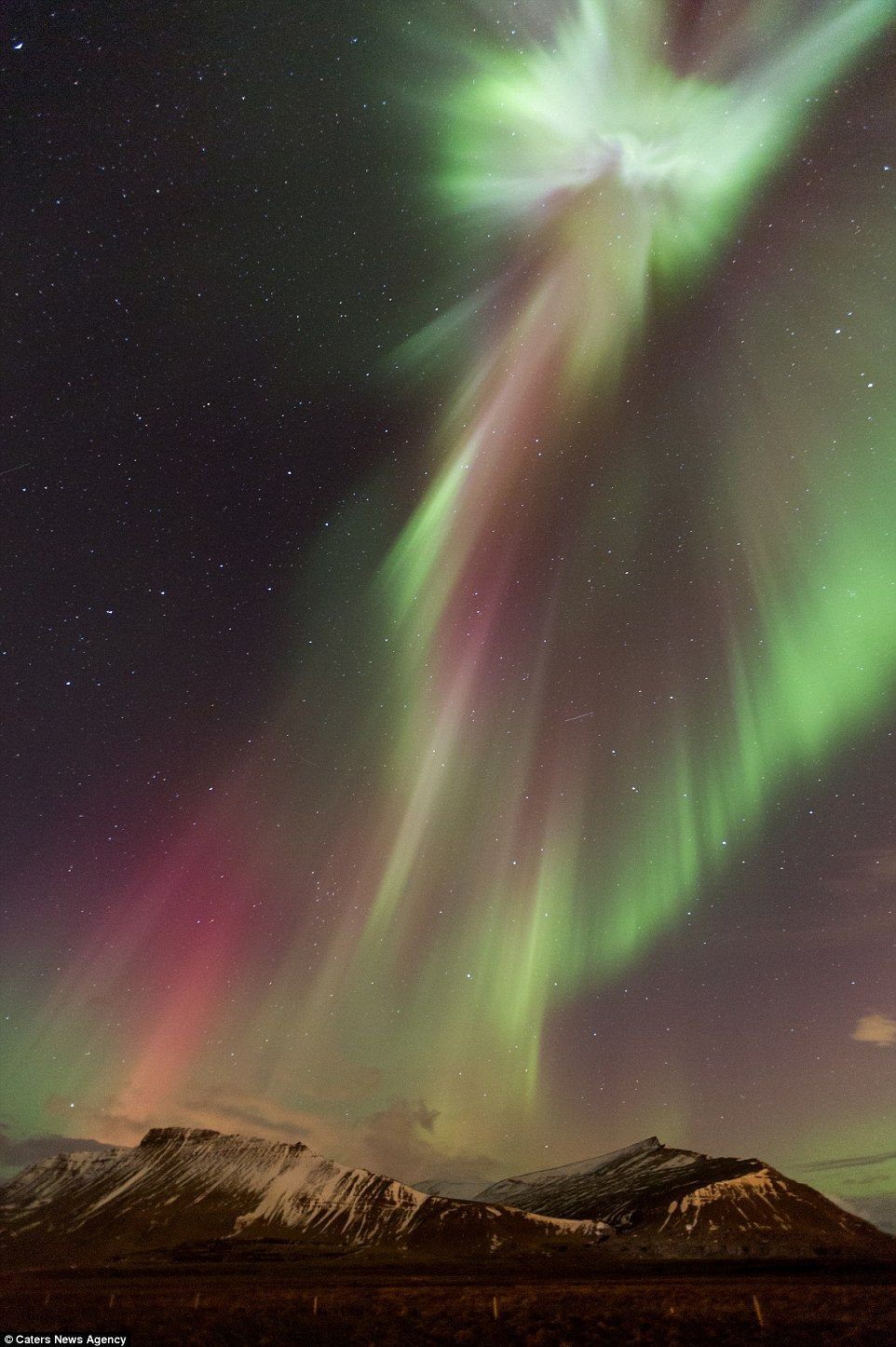 Jesus Spotted in the Northern Lights Over Iceland