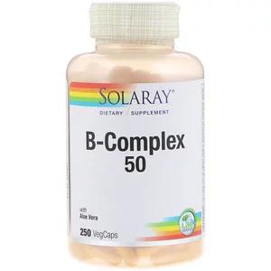 Solaray B コンプレックス 50 植物性カプセル250錠 Vitamin B Complex B Complex Solaray Vitamins