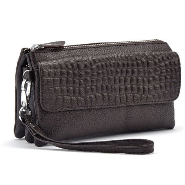 Manka Vesa Women Wallets Leather Packet Wristlet Clutches Female Stone Pattern Coin Purses Small Handbag Shoulder Messenger Bags