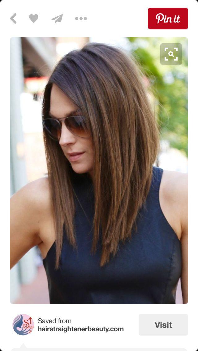 Long Tapered Haircut Hair Makeup Pinterest Haircuts Hair