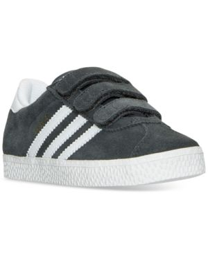 adidas Little Boys' Gazelle 2 Casual Sneakers from Finish Line - GREY/WHITE 2