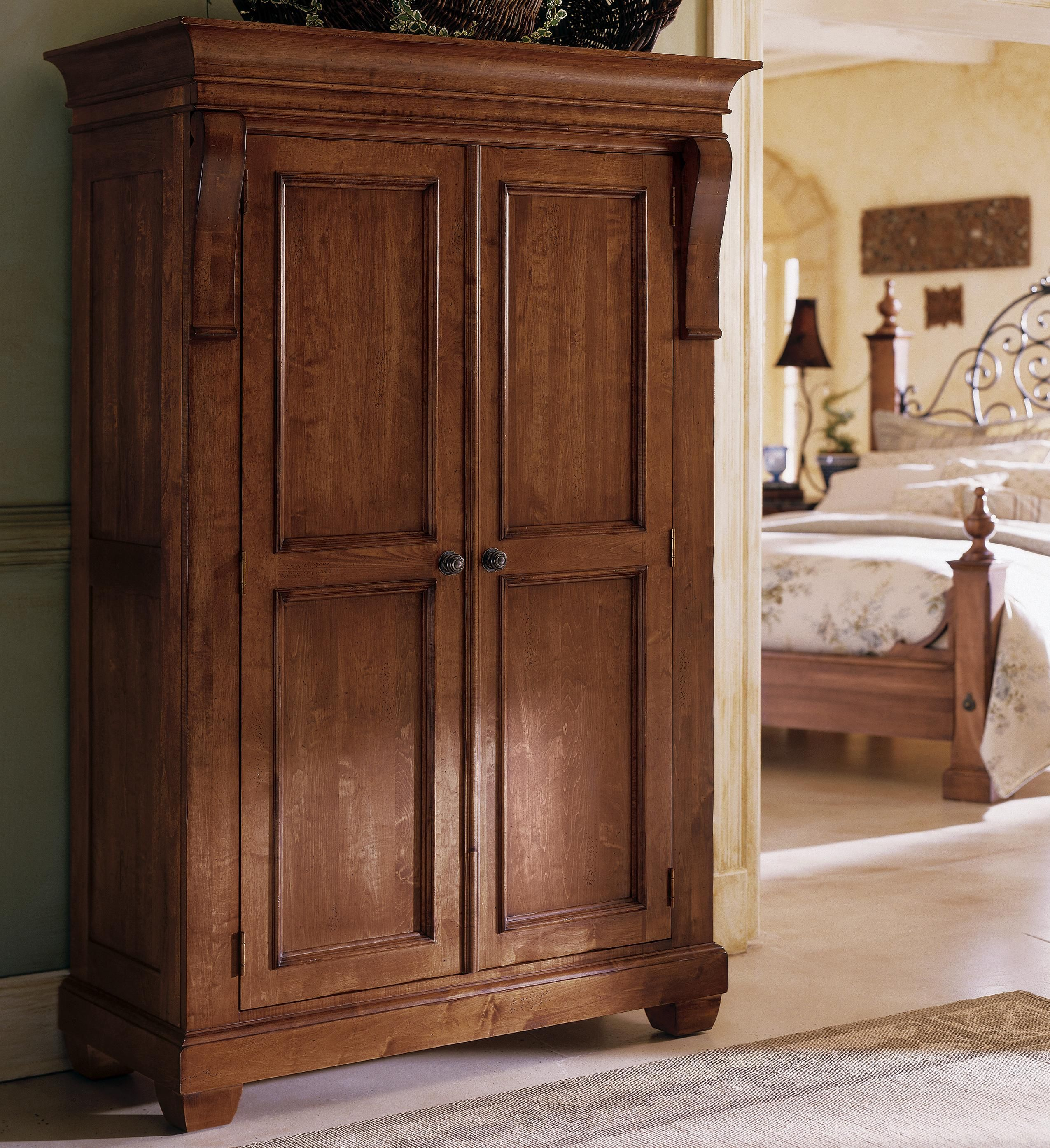 For The Master Bedroom. An Old Wooden Cabinet Instead Of Clean Wardrobes  Kincaid Tuscano Solid Wood Wardrobe