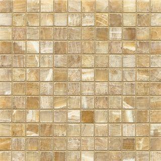 Bedrosians Sweet Honey Onyx Mosaic Polished Tiles Box Of 10 Sheets 1 X1 Gold Size 12 X