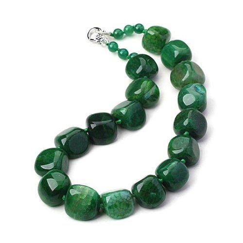 Necklace 'Minéralia' green agate. Les Trésors De Lily http://www.amazon.co.uk/dp/B00CBVJZDY/ref=cm_sw_r_pi_dp_fcLovb1XYRYR2