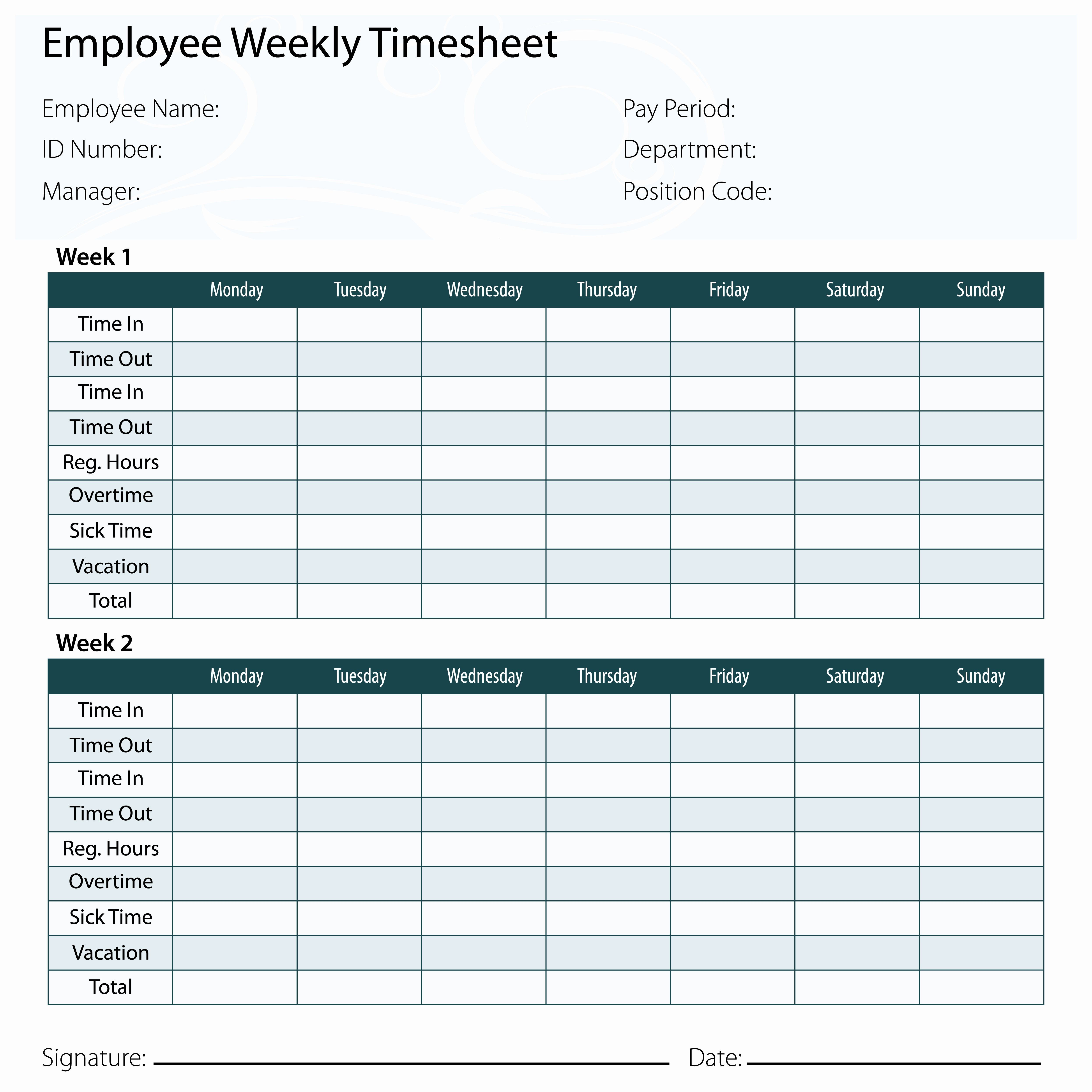 Employee Time Card Template Inspirational Why You Might Want Exempt Employees To Keep Timecards Timesheet Template Card Template Create Business Cards