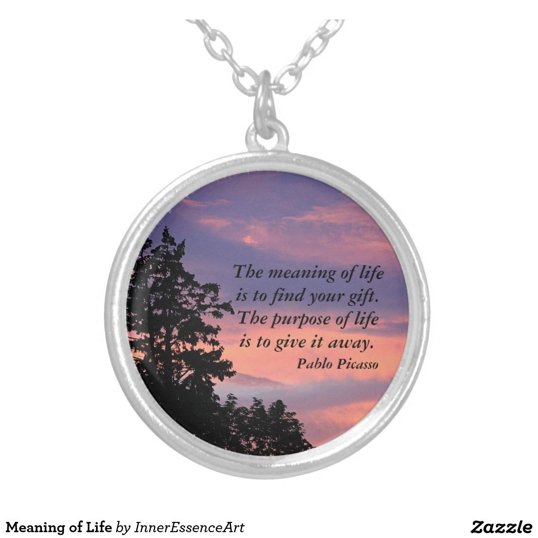 Meaning of life round pendant necklace mother nature jewelry meaning of life round pendant necklace aloadofball Image collections