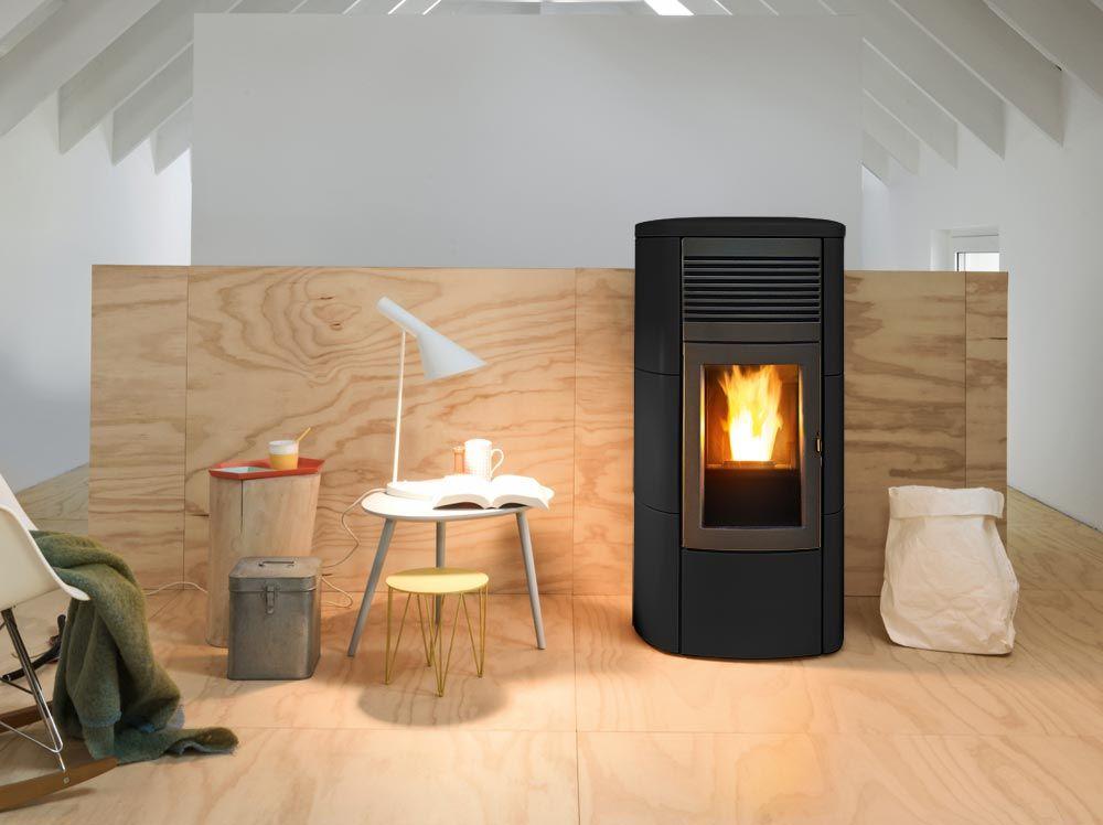 wasserführender Pelletofen MCZ CLUB Hydromatic 16 kW Kachel - pelletofen für wohnzimmer