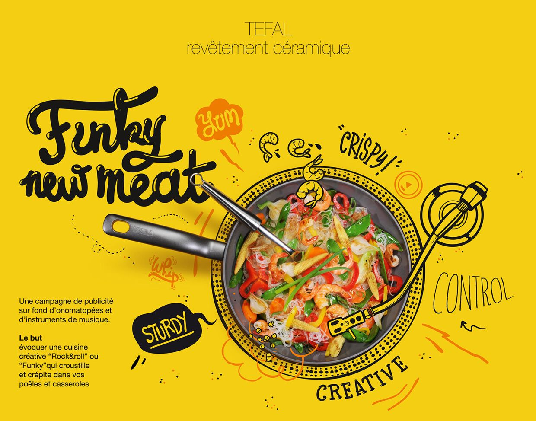 Yellow Color Scheme Hand Lettering Food Design Poster Makanan Desain Menu