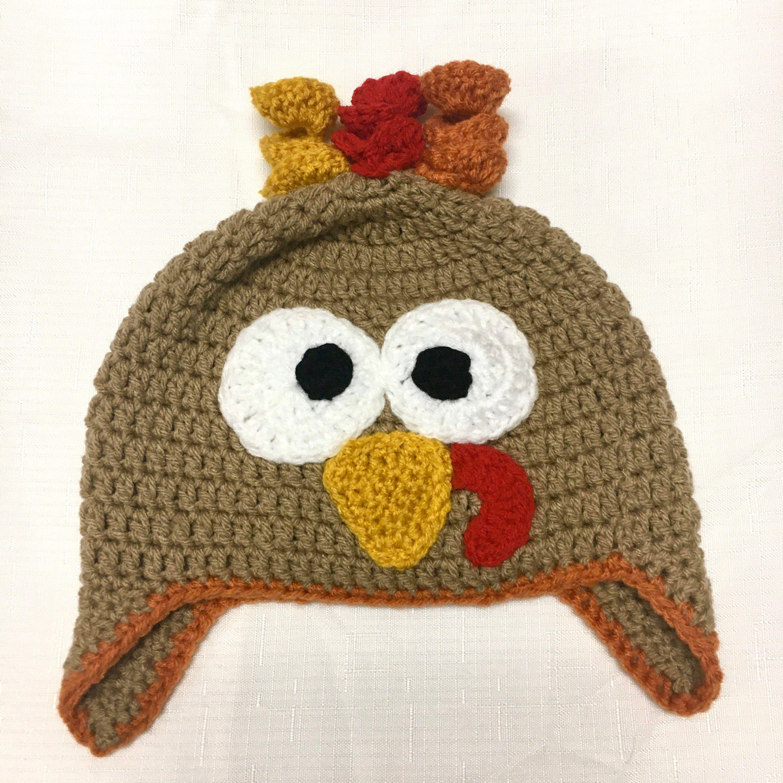 Turkey Hat Crochet Turkey Beanie Thanksgiving Hat Fall Etsy In 2020 Crochet Hats Turkey Hat Thanksgiving Hat