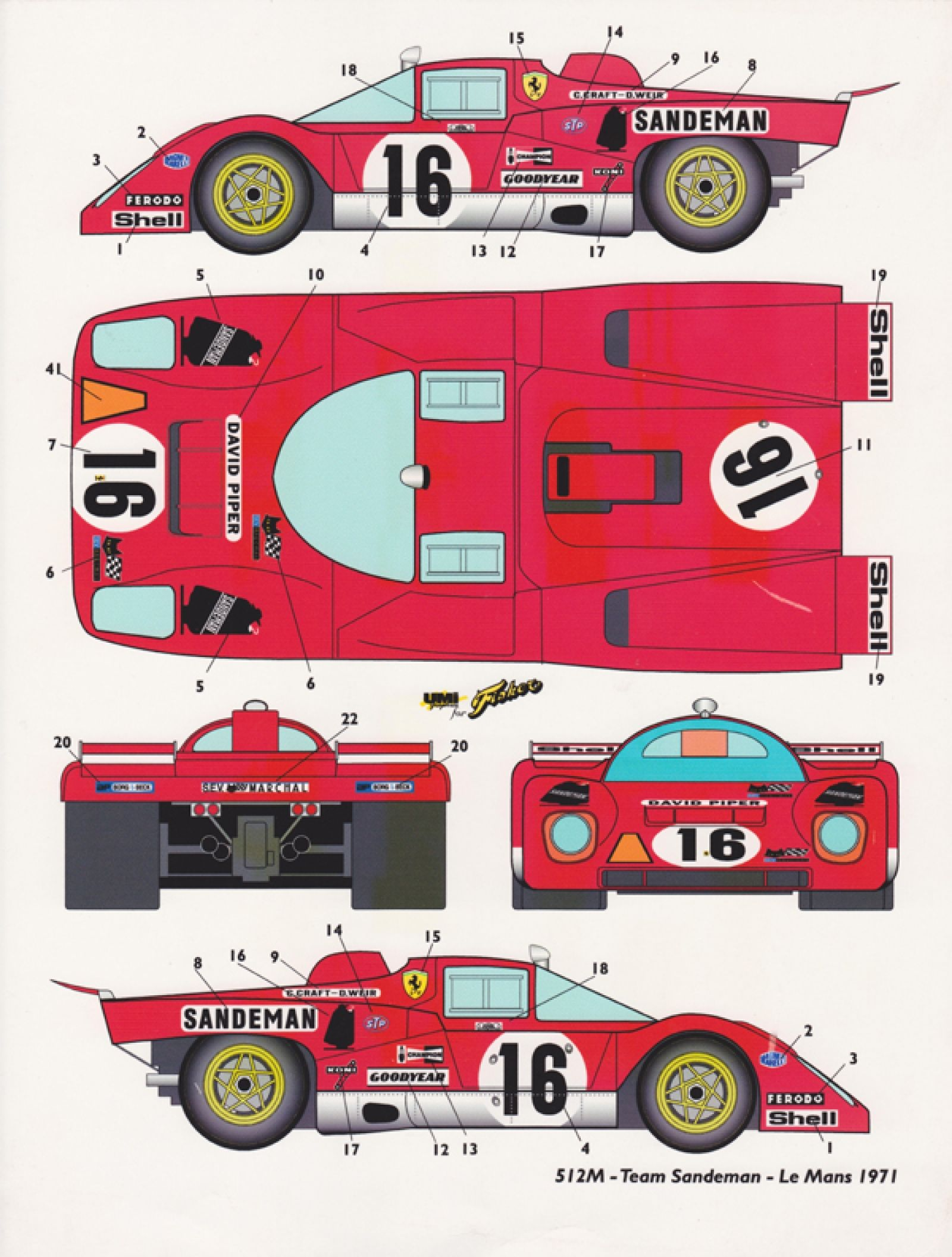 Ferrari 512m sandeman racing car blueprint pinterest ferrari ferrari 512m sandeman malvernweather Choice Image