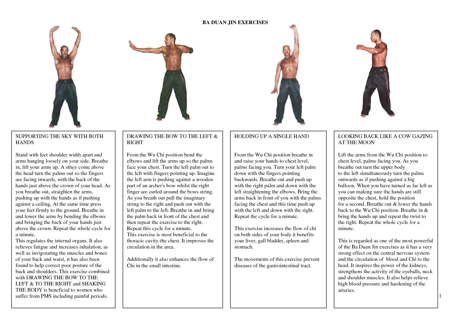 8 Ba Duan Jin Exercises