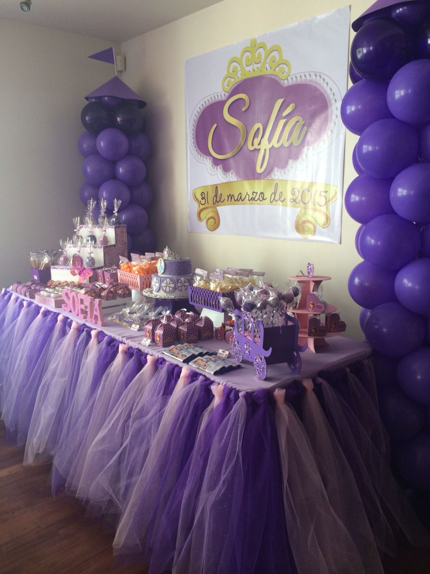 Decoraciones de sofia the first con globos princess for Decoracion con globos