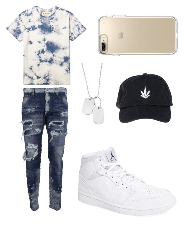 """Untitled #5"" by urtyte-urtyte on Polyvore featuring Dsquared2, NIKE, Palm Angels, Speck, men's fashion and menswear"
