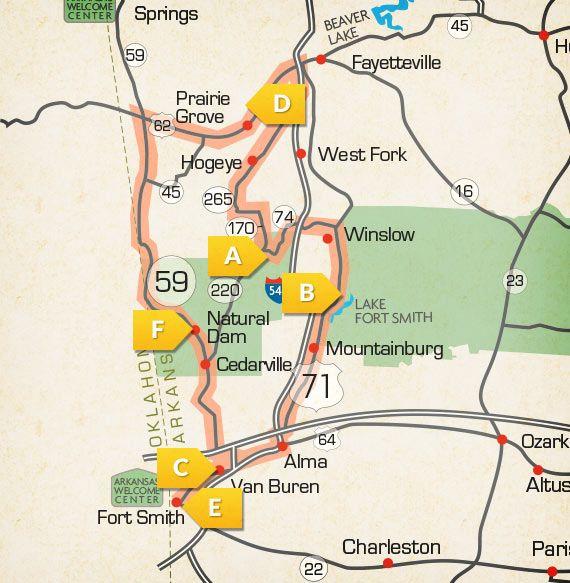 Motorcycle Roads In Arkansas Highway Arkansas Scenic US - Us highway 71 map