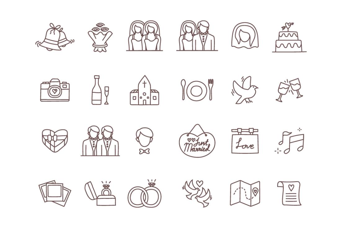 free vector wedding icons free design