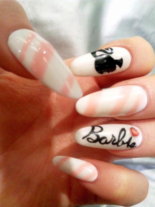 Barbie japanese nails | Tumblr | Nails | Pinterest | Nails games