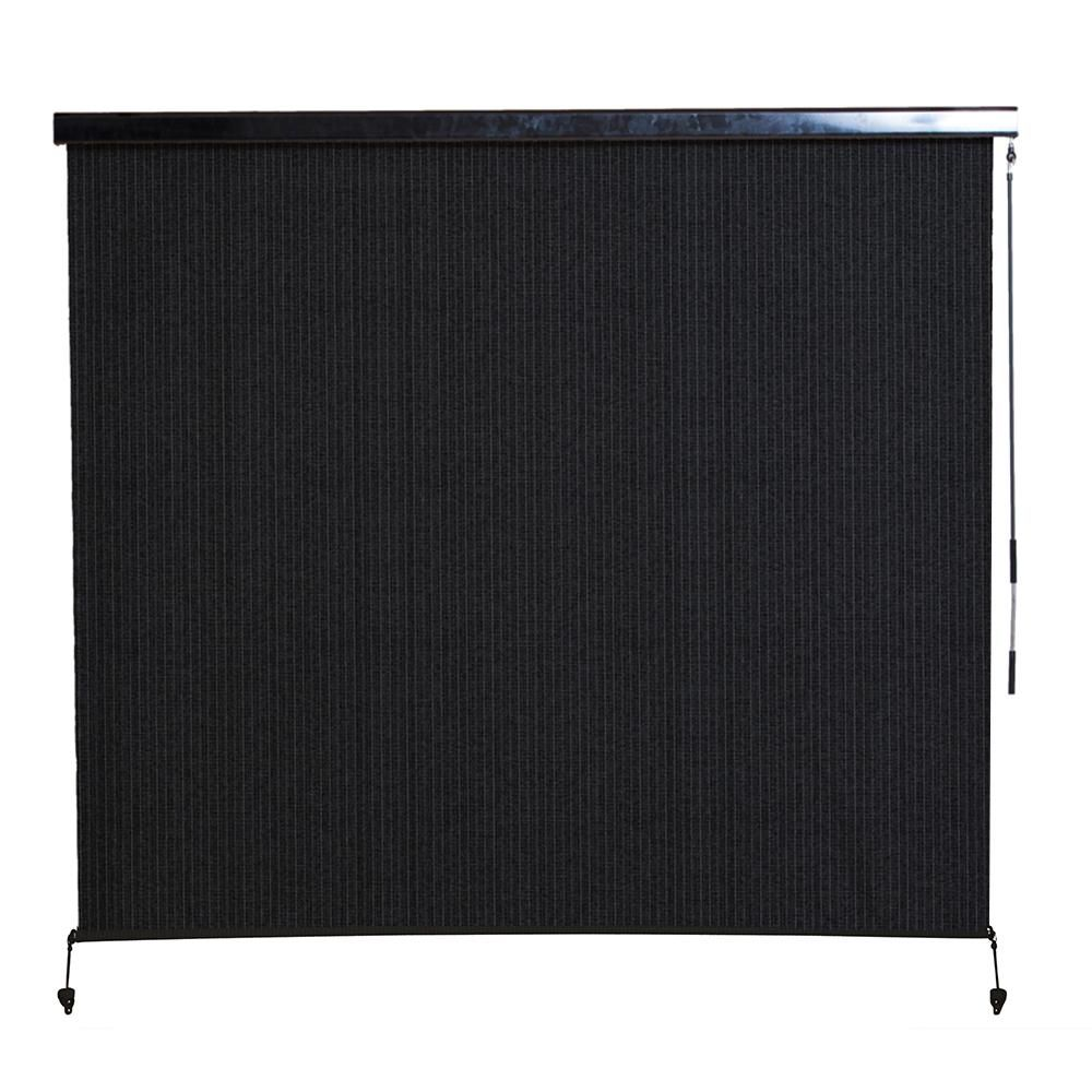 Coolaroo montecito cordless hdpe 95 uv block exterior roller shade with full cassette 96 in Cordless exterior sun shades