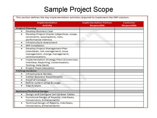 Defining Scope For Erp Implementations Program Management