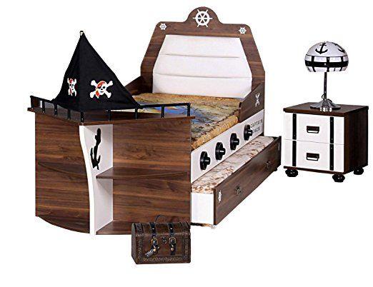 Kinderbett piratenschiff  Ein Kinderbett für Jungs. Eine tolle Deko für das Kinderzimmer das ...