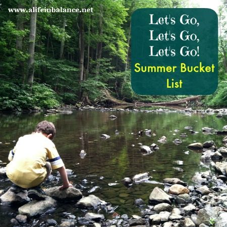 Here's a handy dandy printable summer bucket list. Get going on the fun, compliments of A Life in Balance #summer #bucketlist