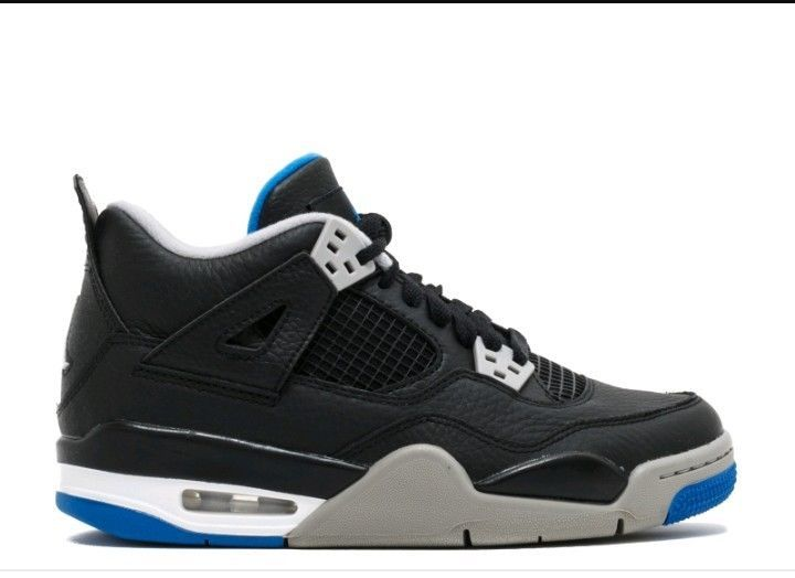 ddf2a91e626ac7 NIKE AIR JORDAN 4S RETRO SIXE 7-13 BLACKSILVERBLUE. BRAND NEW IN THE BOX   fashion  clothing  shoes  accessories  mensshoes  athleticshoes (ebay link)