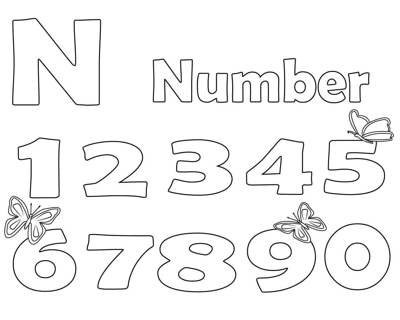 Printable Letter N Coloring Page For Your Loved Ones
