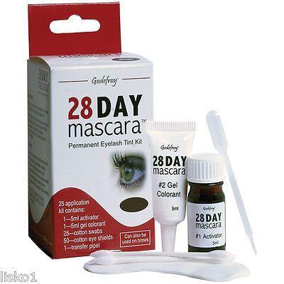 28 day mascara permanent eyelash tint kit color brown 25 ...