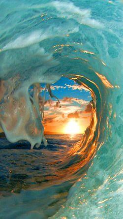 WaveSeaOceanWaterSunsetSunShiwi サーフィン写真, 風景, 風景の壁紙