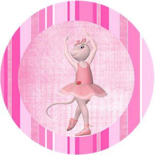 2afe897b58 Angelina Ballerina - Kit Completo com molduras para convites ...