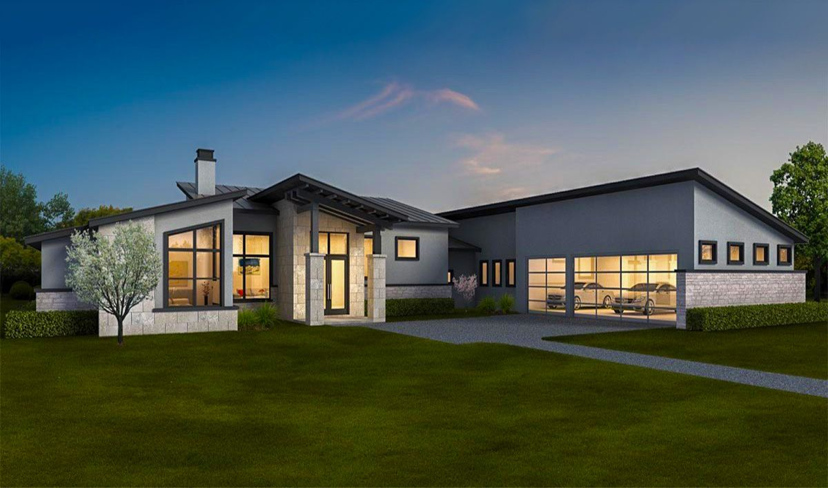 Plan 430028ly Exclusive Contemporary Ranch Home With In Law