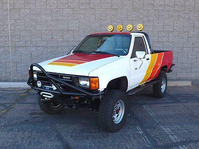 Toyota Tacoma Ivan Steward Baja Graphics 1984 Pickup Truck 4wd Paint Job Red