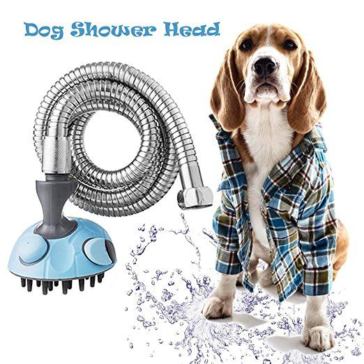 Pet Dog Shower Sprayer Massage Bath Sprayer Shower Brush Portable