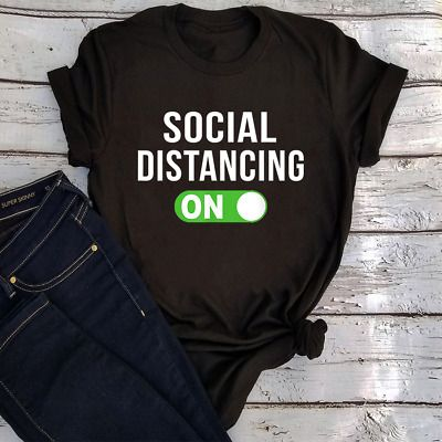 Social Distancing Mode On Tee T-Shirt Shirt0 #fashion #clothing #shoes #accessories #men #mensclothing (ebay link)