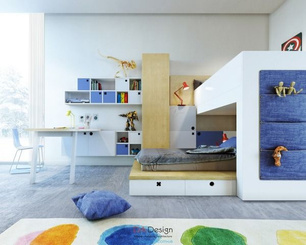 Fun for kidscolorful kids room designs with plenty of storage space
