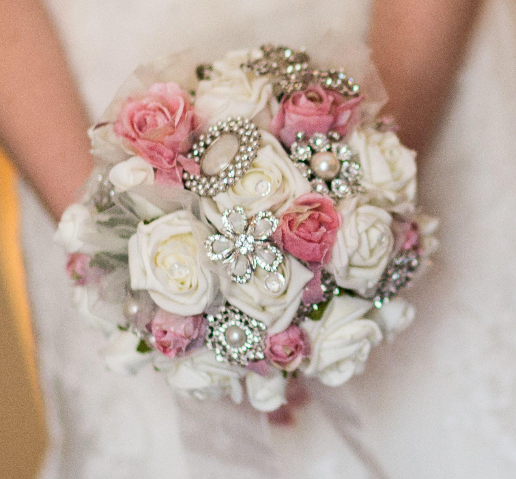 Homemade Wedding Bouquets Ideas : My homemade brooch bouquet wedding ideas
