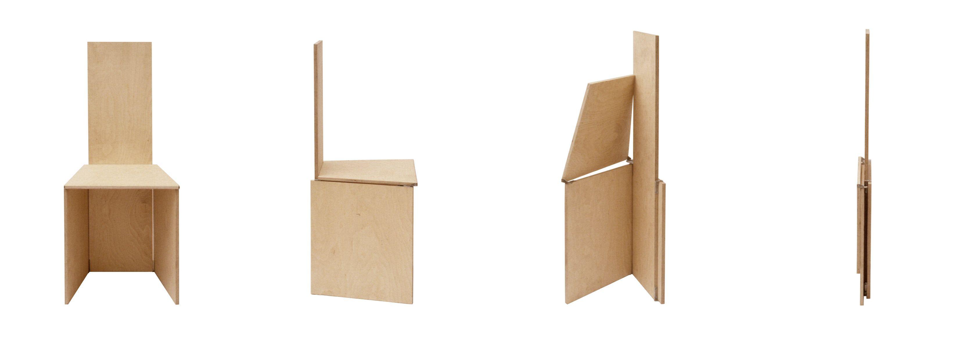 F3 Folding Chair By German Designer Nils Frederking #furnituredesign #birch  #plywood #spacesaver