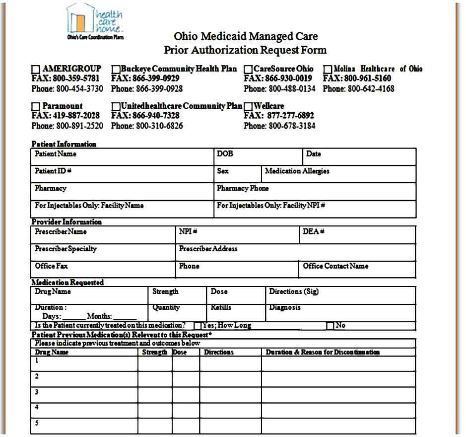 Template Caremark Prior Authorization Form Prior Authorization Business Template Templates