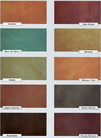 acid based concrete stains color chart Want to do a back patio in