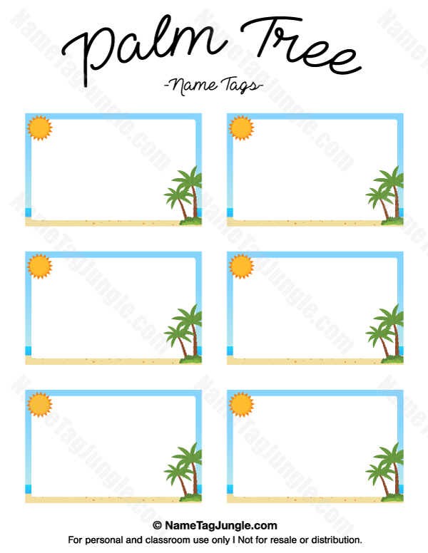chicka chicka boom boom palm tree template - free printable palm tree name tags the template can also