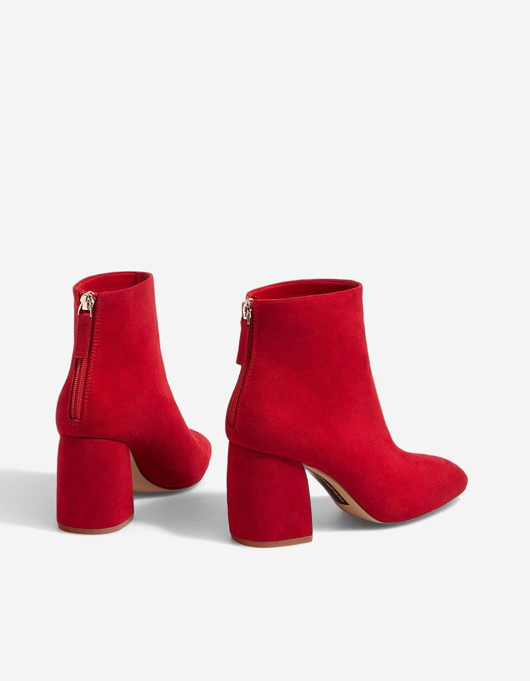 877169f85cc52c Bottines rouges détail talon - NOUVEAU | Stradivarius France | Shoes ...