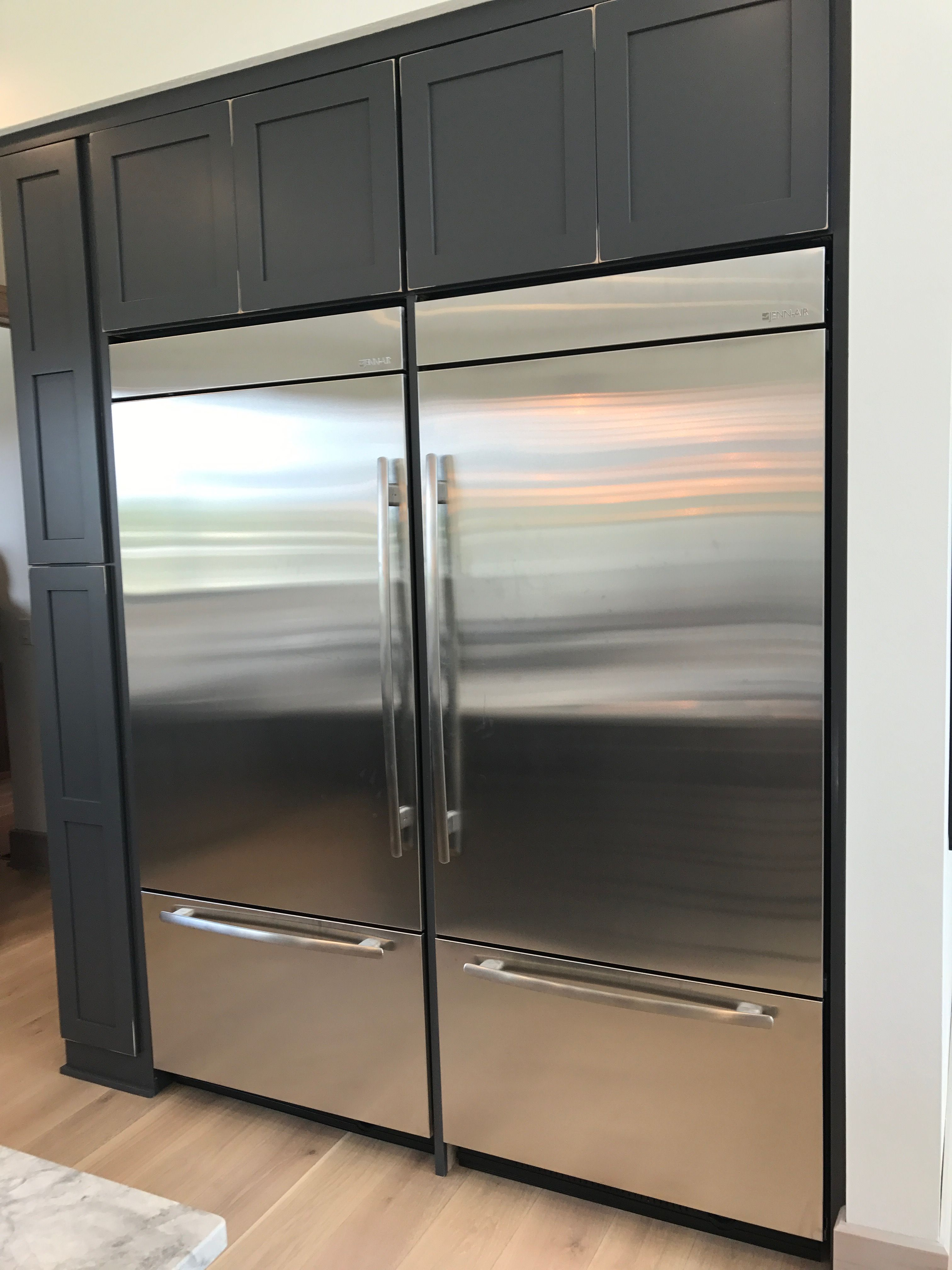 Two Fridges Side By Side A Must Home Kitchens Kitchen Home